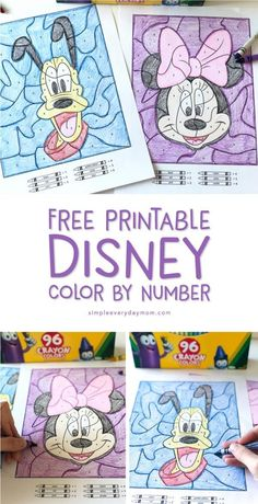 Disney activities - Your Children Will Love These Free Disney Color By Number Printables Color By Number Printable, Printable Numbers, Theme Mickey, Disney Theme, Disney Disney, Disney Activities, Preschool Activities, Free Printable Coloring Pages, Disney Coloring Pages Printables