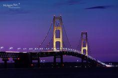 mackinaw bridge   Mackinaw Bridge at Night - so beautiful...   Places In My Heart (Home ...