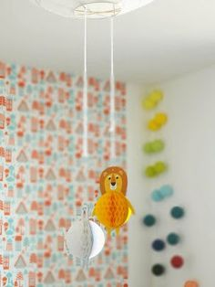 Tingleby wallpaper in red and blue isak - beautiful happy things