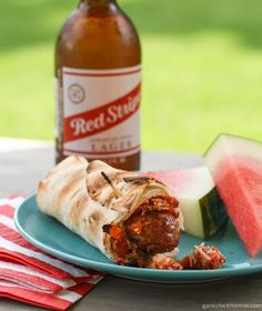 Grilled Italian Sausage Flatbread Wraps. For when you get bored of the basic hot dog in a bun.