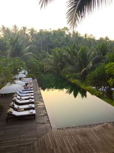 The pool at Komaneka Bisma Hotel in Ubud, Bali