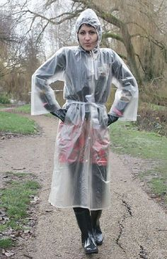 Clear Raincoat, Pvc Raincoat, Plastic Raincoat, Plastic Pants, Plastic Mac, Rain Suit, Hooded Cloak, Skirts With Boots, Rain Wear