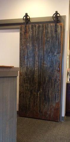 Vintage Industrial Spoked European Sliding Barn Door Closet Hardware set