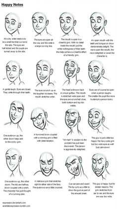 UPDATED FOR A few more notes on facial expressions. Here we have anger. expressions Anger Notes by Expression on DeviantArt Facial Expressions Drawing, Anime Faces Expressions, Expression Sheet, Cartoon Expression, Sad Drawings, Cartoon Drawings, Drawing Techniques, Drawing Tips, Happy Face Drawing