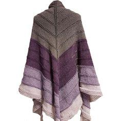 Stort sjal strikket av et enkelt nøste, i en herlig blanding av bomull og ull Blanket, Sweaters, Fashion, Threading, Moda, Fashion Styles, Sweater, Blankets, Cover