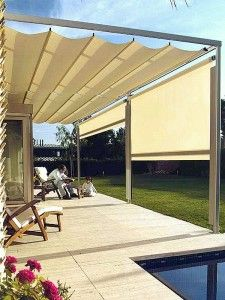 Awnings by sunair retractable awnings deck awnings - Toldos para patios ...