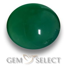 GemSelect features this natural Agate from India. This Green Agate weighs 2.1ct and measures 8.4 x 7.7mm in size. More Oval Cabochon Agate is available on gemselect.com  #birthstones #healing #jewelrystone #loosegemstones #buygems #gemstonelover #naturalgemstone #coloredgemstones #gemstones #gem #gems #gemselect #sale #shopping #gemshopping #naturalagate #agate #greenagate #ovalgem #ovalgems #greengem #green Green Gemstones, Loose Gemstones, Natural Gemstones, Buy Gems, Green Agate, Gem S, Gemstone Colors, Shades Of Green, Stone Jewelry