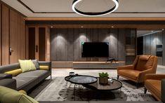 Living Room Tv, Living Room Modern, Living Room Designs, Apartment Interior, Apartment Design, Tv Background, Tv Console Design, Tv Unit Bedroom, Lcd Panel Design