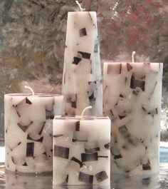 Cosmic Candles :: Chunk Pillar Candles :: Birch Aromatherapy Chunk ...
