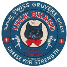 Vintage Swiss cheese label