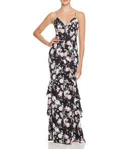 Nothing says spring more than a floral bridesmaid dress. Shop 12 floral bridesmaid dresses for a spring or summer wedding Floral Evening Dresses, Floral Bridesmaid Dresses, White Evening Gowns, White Ball Gowns, Long Dresses, Floral Print Gowns, Printed Gowns, Best Wedding Guest Dresses, Bridal Party Dresses