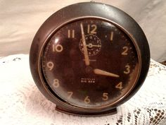 VTG Big Ben Westclox Alarm Clock Black Dial White Hands LOUD ALARM C1940 #WestcloxBIGBEN