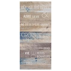 Canvas - Life, Bouclair Home Canvas Frame, Canvas Wall Art, Bouclair Home, Painted Signs, Decor Styles, Framed Art, Palette, Outdoor Blanket, Art Deco