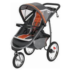 Amazon.com : Graco Fastaction Fold Jogger Click Connect Stroller, Tangerine : Baby