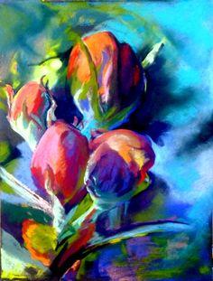 Apple Blossom Pastel by Sue Gardner
