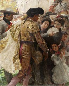 L'Idole, 1902. De Henri Zo (Francia 1873-1933) . Musée de Cahors. http://www.musees-midi-pyrenees.fr/musees/musee-de-cahors-henri-martin/collections/peinture-du-xixe-siecle/henri-zo/l-idole/