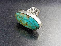 Sterling Silver & Turquoise David Troutman & Gundi Adjustable Ring