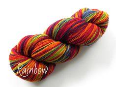 Wolle 8/2 Farbe Rainbow Effektgarn mit tollem langen Farbverlauf 288 gr