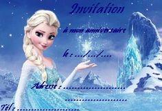 carte anniversaire elsa reine des neiges