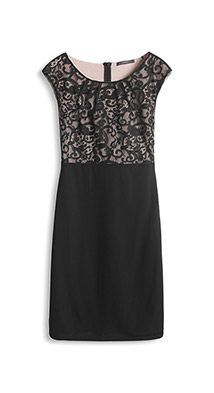 stretchy shift dress with lace