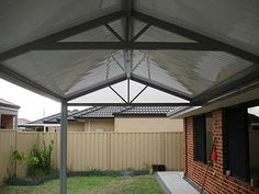 Flat Deck roof sheeting creates a very modern look.