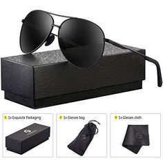 2772b7155e4 Sunglasses   Sunglasses Accessories · Polarized Aviator Sunglasses for Men  - Feirdio Metal Frame Sports UV 400 Mens  fashion