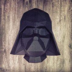 Sculpture Dark Vador en papier - Paper Darth Vader Sculpture #paper #papier #papercut #papercraft #pepakura #vector #sculpture #design #vador #vader #darkvador #darthvader #starwars #starwarsVII #sith #theforceawakens