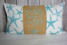 Star Fish Pillow. Nautical Pillow Cover. Pillow Cover. Sea Creatures. Beach Decor. Beach Pillow by JRPillowCo on Etsy https://www.etsy.com/listing/228710276/star-fish-pillow-nautical-pillow-cover