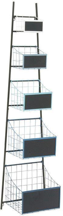 """UMA Inc Mtl Wd Wall Basket 16""""W, 62""""H"""