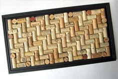 Wine Cork Board with Matte Black Frame by LizzieJoeDesigns on Etsy, $60.00