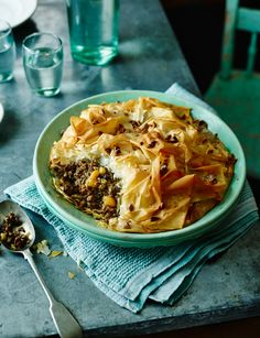 Moroccan spiced lamb pie with almonds and apricots - A delicious twist on a tagine