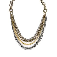 I love the a.v. max Multi-Chain Mixed Metal Necklace from LittleBlackBag