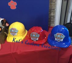 Party Hats at Paw Patrol Birthday Party
