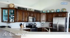 Makeover your kitchen cabinets with stain! ~ from BetterAfter.net ~