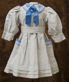 "Antique French Original Sailor Dress for Jumeau Bru Steiner Eden Bebe E.J. doll about 26"" tall (65 cm)"