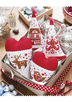 Heart shape cloth ornaments
