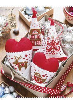 Heart shape cloth ornaments
