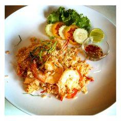 Tom Yum Fried Rice with Shrimp,Thai food