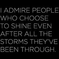 I Admire People...