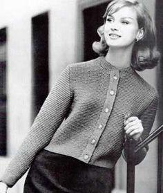 50's style Cardigan Sweater IX, Sizes 12, 14, 16 and 18 | Free Knitting Patterns