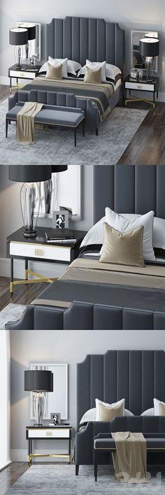 17 Ideas for bedroom art design beds Luxury Bedroom Design, Bedroom Bed Design, Home Room Design, Home Decor Bedroom, Modern Bedroom, Bedroom Furniture, Master Bedroom, Furniture Design, Interior Design