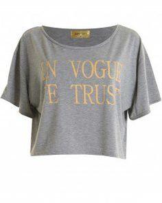 #inlovewithfashion.com    #love                     #LOVE #Grey #Peach #Vogue #Trust' #Crop #Love       LOVE Grey And Peach 'In Vogue We Trust' Crop Tee - Love                                                 http://www.seapai.com/product.aspx?PID=1790052