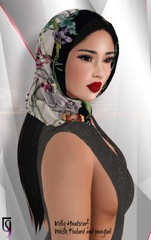 eccd46956b4 Second Life Marketplace - DEMO - TuTy s Kelly Headscarf with ponytail Second  Life
