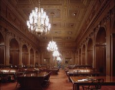 The Main Reading Room in the Supreme Court Library. Wow it's beautiful!