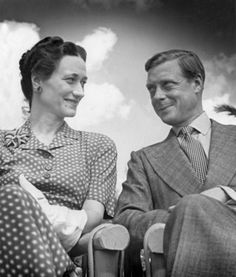 Wallis Simpson and Edward VIII son of George V and Mary