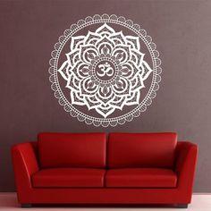 Ohm Mandala Wall Sticker