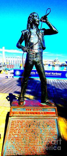Ac Dc Photograph - Bon Scott Ac Dc Singer Fremantle by Roberto Gagliardi