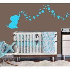 Elephant Bubbles Nursery Wall Decal Set
