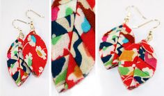 Follow our step by step tutorial on how to make a pair of Liberty print earrings on the Liberty Craft Blog #SewLiberty