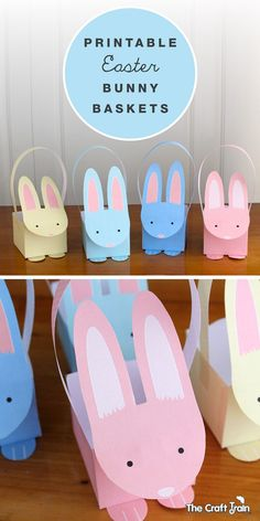 Easter carrot treat boxes free printable easter and carrots free printable pastel bunny baskets for easter negle Image collections